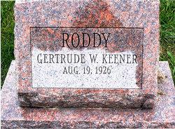 Gertrude W Sweetie <i>Roddy</i> Keener