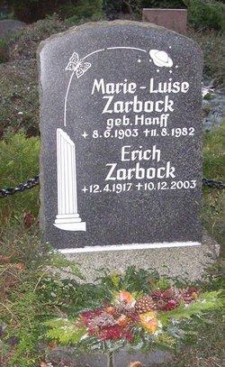 Marie-Luise <i>Hanff</i> Zarbock