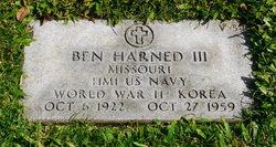 Benjamin Ben Harned, III