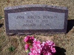 Amanda Jane <i>Kircus</i> Bowman