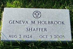Geneva M <i>Holbrook</i> Shaffer
