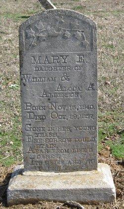 Mary E Alderson