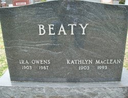 Dr Ira Owens Beaty