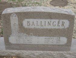 Fannie Ruth <i>Bean</i> Ballinger