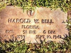 Pvt Harold W Bell