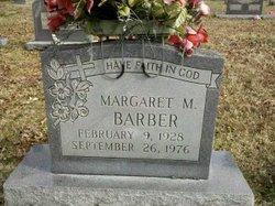 Margaret M Barber