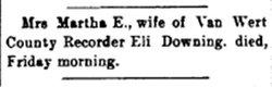 Martha Jane E. <i>Miller</i> Downing