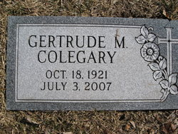 Gertrude M. <i>Simrell</i> Colegary