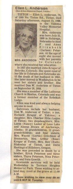 Ellen L <i>Peterson</i> Anderson
