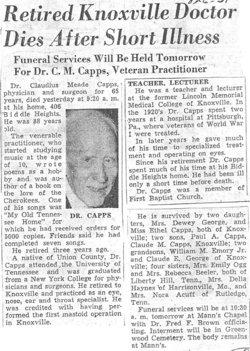 Dr Claude M Capps, Jr