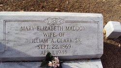 Mary Elizabeth <i>Maddox</i> Clark