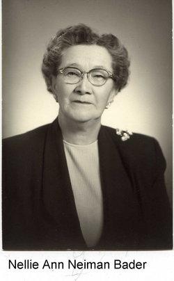 Nellie Ann <i>Neiman</i> Bader