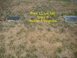Hannah A <i>Miller</i> Stephens