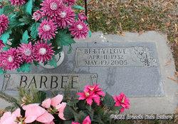 Betty Jean <i>Love</i> Barbee