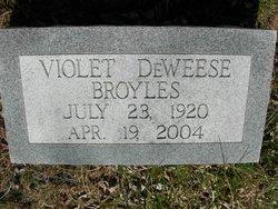Violet <i>DeWeese</i> Broyles
