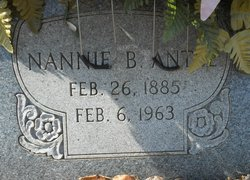 Nannie B. <i>Letcher</i> Antle