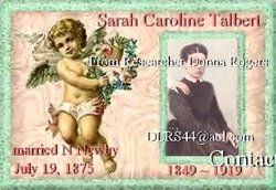 Sarah Caroline <i>Talbert</i> Newby