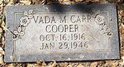 Vada M <i>Carr</i> Cooper