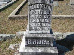 Mary Lou <i>Porter</i> Brock