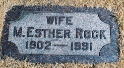 Mary Esther Esther <i>Chenoweth</i> Rock