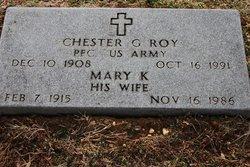 PFC Chester G Roy