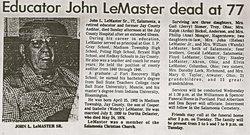 John Leland LeMaster, Sr