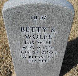 Betty K Wolfe