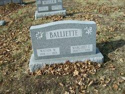 Margaret E <i>Ridenour</i> Balliette