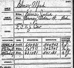 Pvt Alfred Elmer