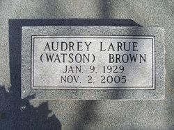 Audrey LaRue <i>Watson</i> Brown