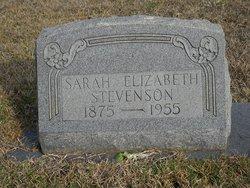 Sarah Elizabeth Sallie <i>Springer</i> Stevenson