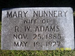 Mary <i>Nunnery</i> Adams