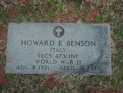 Howard E Benson