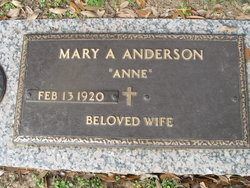 Mary Agnes Anne <i>Shipman</i> Anderson