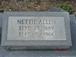 Jeanetta Nettie <i>Crawford</i> Allen