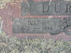Iva Anna <i>Marsh</i> Durham