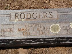 Mary I <i>Rodgers</i> Acree