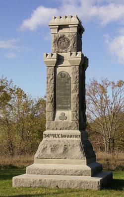 34th New York Infantry Marker