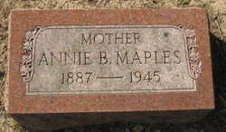 Annie Belle <i>Tony</i> Maples