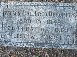 Cpl Fred Dehority