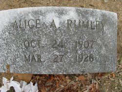 Alice A <i>Shepherd</i> Rumley
