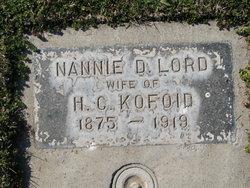 Nannie D. <i>Lord</i> Kofoid