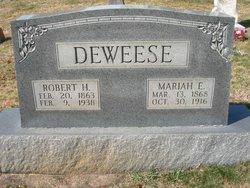 Mariah E <i>DeBruhl</i> DeWeese
