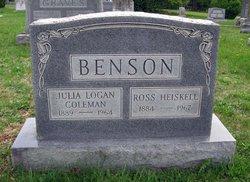 Julia Logan <i>Coleman</i> Benson
