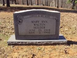 Mary Ann <i>Walton</i> Holder