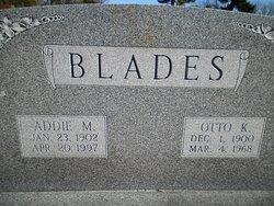 Adaline (Addie) May <i>Hendricks</i> Blades