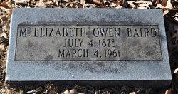 M. Elizabeth <i>Owen</i> Baird