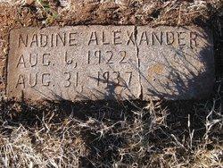 Nadine Alexander