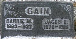 Carrie M. <i>Farrow</i> Cain