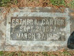 Esther Lucinda Essie <i>Uhl</i> Carter